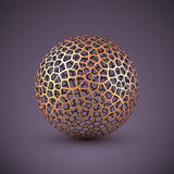 Esfera abstracta del wireframe del vector Stock de ilustración