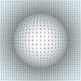 Esfera abstracta en fondo binario Fotos de archivo