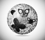 Esfera abstracta mágica stock de ilustración
