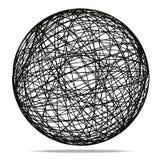 Esfera abstracta negra en el fondo blanco Fotografía de archivo libre de regalías