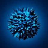 Esfera abstrata com estrutura caótica Imagens de Stock Royalty Free