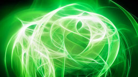 Esfera abstrata da luz verde Ilustração do Vetor