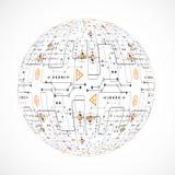 Esfera abstrata da tecnologia Fotografia de Stock