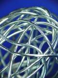 Esfera abstrata do fio de prata Imagem de Stock Royalty Free