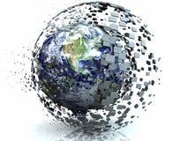 Esfera abstrata do Internet 3D da terra ilustração do vetor
