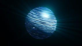Esfera abstrata do redemoinho com efeito do brilho Imagem de Stock