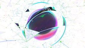 Esfera abstrata no fundo branco rendição 3d Imagem de Stock