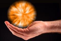 Esfera alaranjada da luz Fotografia de Stock Royalty Free