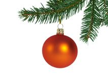 Esfera alaranjada do Natal Imagens de Stock