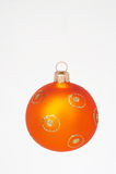Esfera alaranjada do Natal - weihnachtskugel alaranjado Fotos de Stock