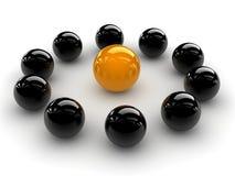 Esfera amarela Foto de Stock Royalty Free