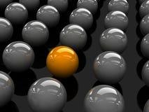 Esfera amarela Imagens de Stock Royalty Free