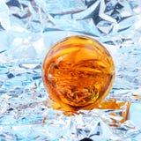 Esfera amarela abstrata foto de stock royalty free
