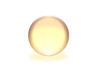 esfera amarilla 3d Foto de archivo libre de regalías