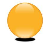Esfera anaranjada 3d de octubre Fotografía de archivo