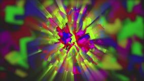 Esfera animada colorida en el fondo abstracto 4K stock de ilustración