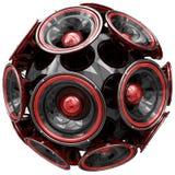 Esfera audio dos oradores isolada no branco Imagem de Stock Royalty Free