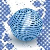 Esfera azul Fotos de Stock Royalty Free