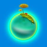Esfera azul Imagen de archivo libre de regalías