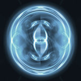 Esfera azul ilustración del vector