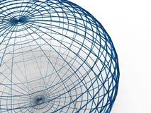 Esfera azul del alambre Imagenes de archivo