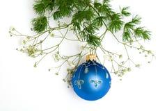 Esfera azul do Natal fotos de stock