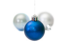 Esfera azul do Natal Foto de Stock