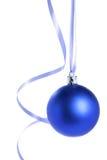 Esfera azul do Natal foto de stock