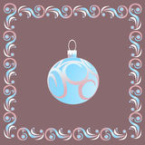 Esfera azul do Natal Fotos de Stock Royalty Free