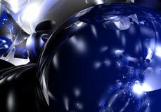Esfera azul grande ilustración del vector
