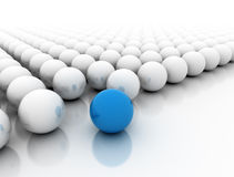 Esfera azul que se destaca Imagen de archivo libre de regalías