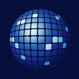 Esfera azul telhada Foto de Stock Royalty Free