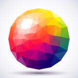 Esfera baixo-poli abstrata Fotos de Stock