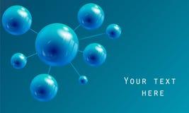 Esfera bajo la forma de molécula Foto de archivo libre de regalías