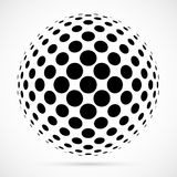 Esfera blanca del tono medio del vector 3D Fondo esférico punteado LOGOTIPO libre illustration