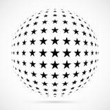 Esfera blanca del tono medio del vector 3D Fondo esférico punteado LOGOTIPO ilustración del vector