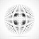 Esfera branca da reticulação do vetor 3D Fundo esférico pontilhado logo Imagem de Stock