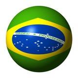 Esfera brasileira da bandeira Fotografia de Stock