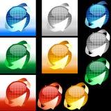 Esfera brillante con las flechas Imagen de archivo libre de regalías