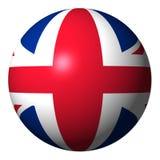 Esfera britânica da bandeira ilustração do vetor