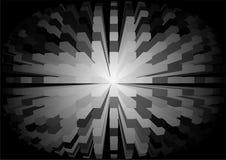 Esfera cúbica de la abstracción blanco y negro Fotos de archivo