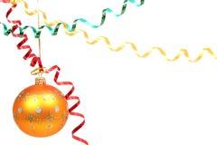 Esfera celebradora amarilla y bobinador de cintas en modo continuo multicolor 3 Foto de archivo libre de regalías
