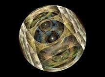 Esfera chrystal de vidro da textura Foto de Stock