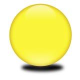 esfera coloreada amarilla 3d Fotografía de archivo