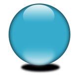 esfera coloreada azul 3d Imagen de archivo libre de regalías