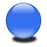 esfera coloreada azul 3d Imágenes de archivo libres de regalías