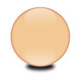 esfera coloreada melocotón 3d Stock de ilustración