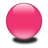 esfera coloreada rosada 3d Ilustración del Vector