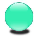 esfera coloreada verde 3d Imagen de archivo libre de regalías