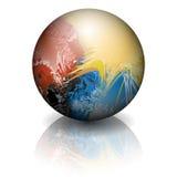 Esfera colorida ilustração stock